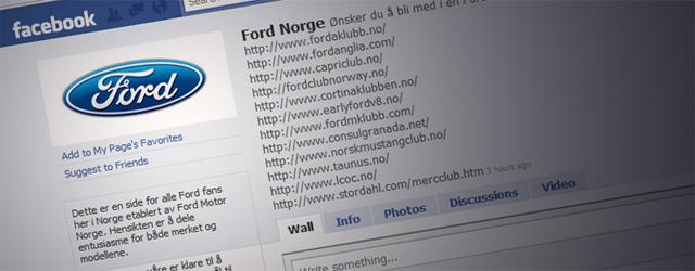 Ford Motor Norge på Facebook